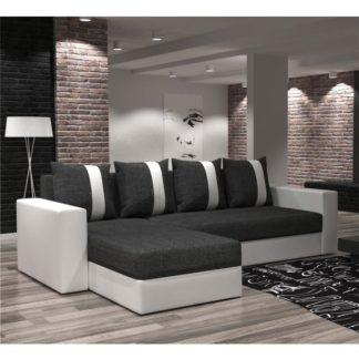 Univerzální sedací souprava, bílá / tmavě šedá, TOBIAS 0000172761 Tempo Kondela