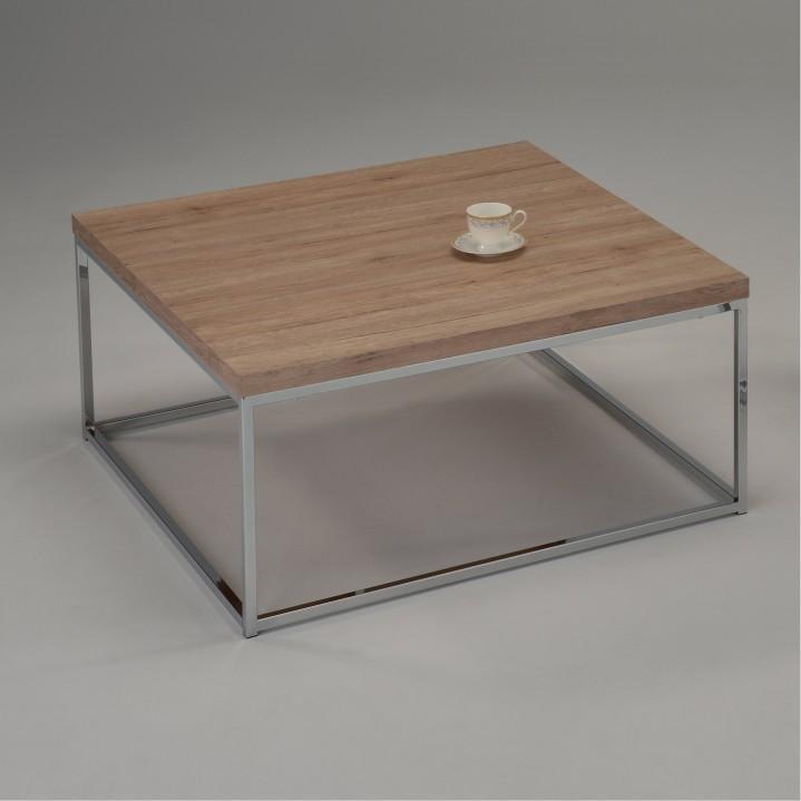 Konferenční stolek NATANEL dub sonoma / chrom Tempo Kondela
