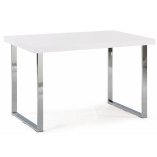 Jídelní stůl TALOS bílá lesk / chrom Tempo Kondela