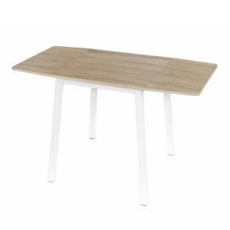Jídelní stůl rozkládací 60/120 MAURO dub sonoma / bílá Tempo Kondela