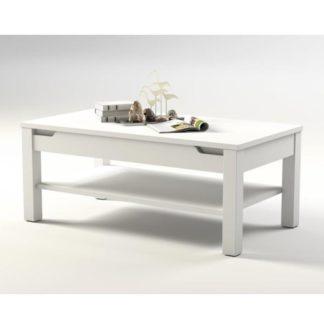 Konferenční stolek ADONIS AS 96 bílý vysoký lesk Tempo Kondela