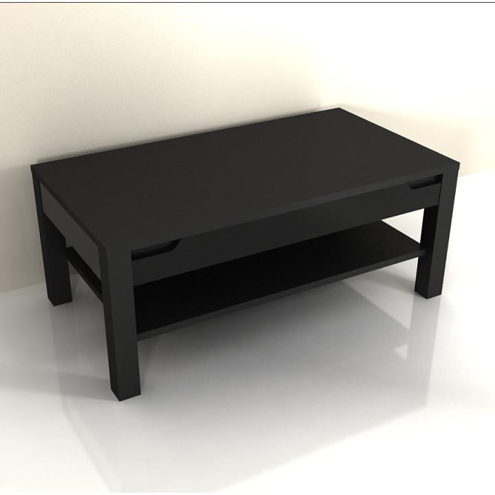 Konferenční stolek ADONIS AS 96 černý vysoký lesk Tempo Kondela