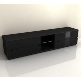 RTV stolek ADONIS AS 30 černá / černá extra vysoký lesk Tempo Kondela