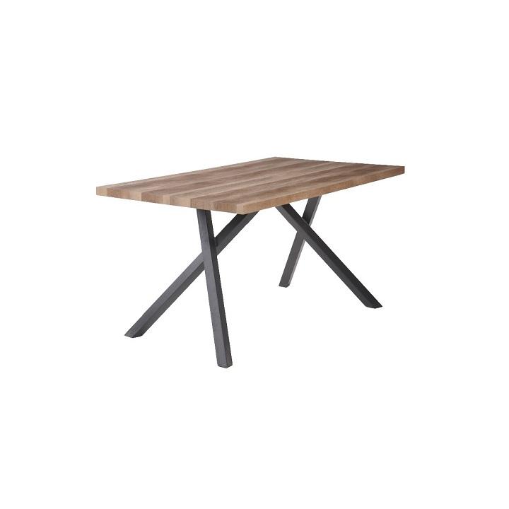 Jídelní stůl GURDUN světlá švestka / černá Tempo Kondela