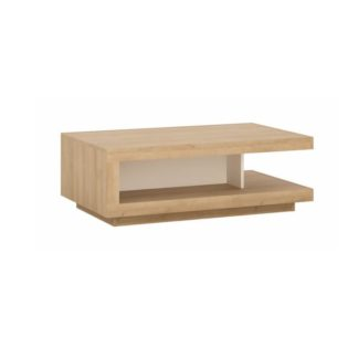 Konferenční stolek Leonardo LYOT01 dub riviera / bílá Tempo Kondela