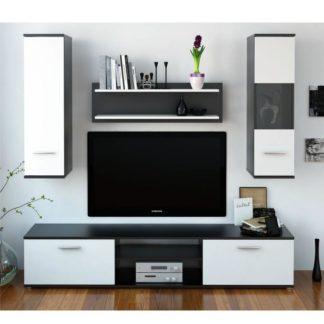 Obývací stěna WAW NEW černá / bílá Tempo Kondela