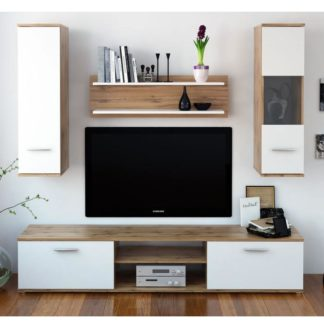 Obývací stěna WAW NEW dub wotan / bílá Tempo Kondela