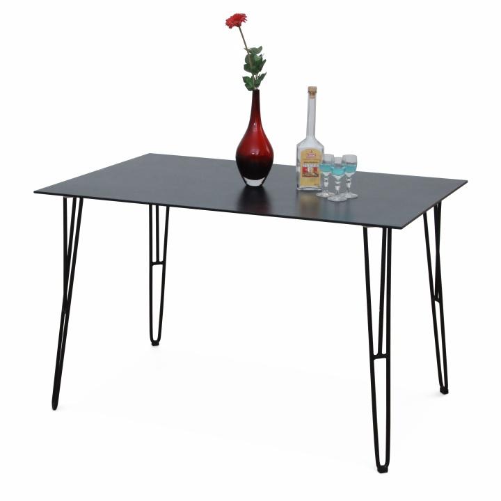 Jídelní stůl OBERON tvrzené sklo / černý kov Tempo Kondela