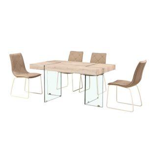 Jídelní stůl PASKAL MDF / tvrzené sklo Tempo Kondela