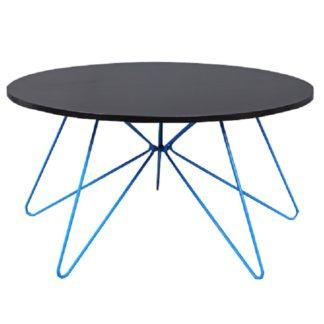 Konferenční stolek MIKKEL černý dub / modrá Tempo Kondela
