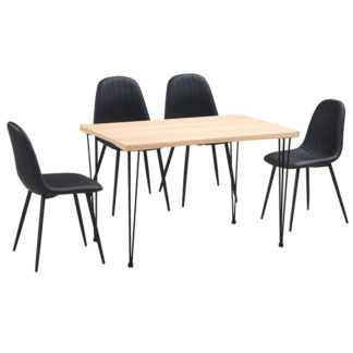 Jídelní stůl GORDAN světlý buk / černá Tempo Kondela
