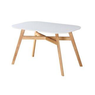 Jídelní stůl CYRUS NEW bílá / přírodní Tempo Kondela