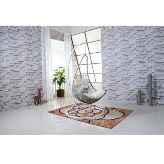 Závěsné křeslo, bílá/šedá/krémová, KALEA 0000194853 Tempo Kondela