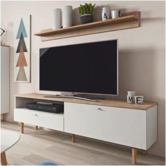 RTV stolek LAVELI LRTV150 bílá / buk pískový Tempo Kondela
