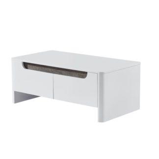 Konferenční stolek GARNER bílá/ bílá extra vysoký lesk HG  Tempo Kondela