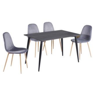 Jídelní stůl KABOR černá Tempo Kondela