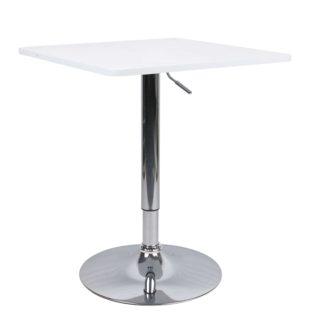 Barový stůl FLORIAN NEW bílá / chrom Tempo Kondela