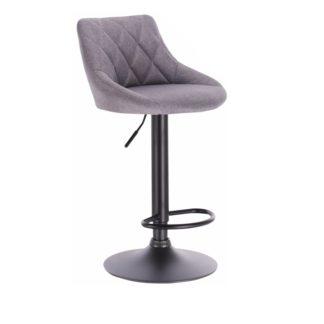 Barová židle TERKAN šedá / černá Tempo Kondela