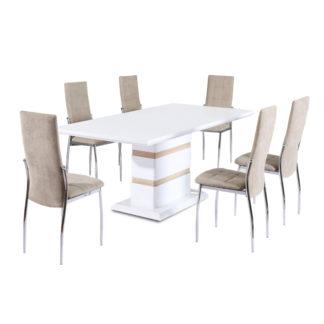 Jídelní stůl MADOS bílá lesk Tempo Kondela