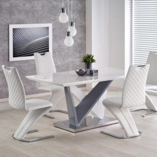 Jídelní stůl CORTEZ bílý/šedý Halmar