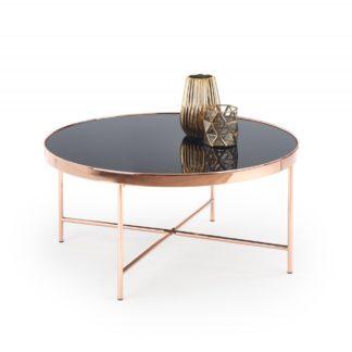 Konferenční stolek MORIA černá / měď Halmar