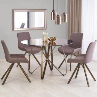 Jídelní stůl skleněný LUNGO Halmar