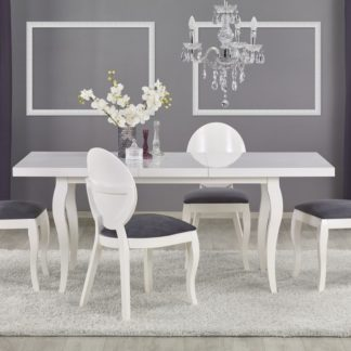 Jídelní stůl rozkládací MOZART 160-240 bílý Halmar
