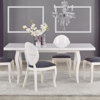 Jídelní stůl rozkládací MOZART 140-180 bílý Halmar