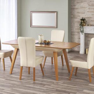 Jídelní stůl rozkládací ORCHID dub medový/béžový Halmar