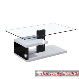 Konferenční stolek LARS NEW sklo/ bílá/ černá Tempo Kondela