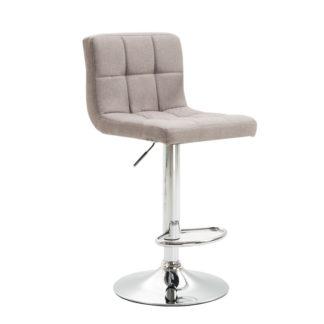 Barová židle KANDY NEW taupe šedohnědá látka / chrom Tempo Kondela