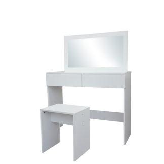 Toaletní stolek s taburetem LILIEN bílá Tempo Kondela