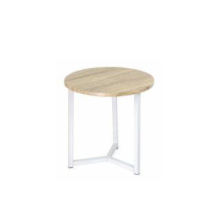 Odkládací stolek CELINI přírodní / bílá Tempo Kondela
