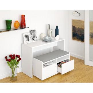 Víceúčelový stůl a lavice DELIMA bílá Tempo Kondela