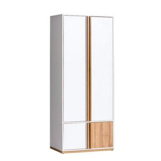 Šatní skříň KNOX E1 ořech select / bílá Tempo Kondela