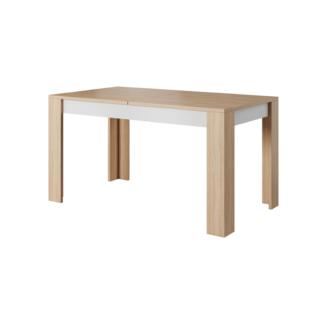 Jídelní stůl rozkládací 140/180 LAGUNA beton / dub jantar / bílá mat Tempo Kondela