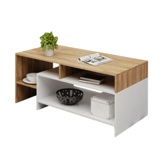 Konferenční stolek ALICANTE dub grandson / bílá Tempo Kondela