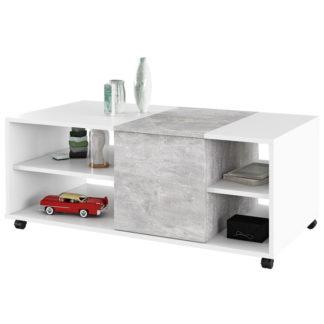 Konferenční stolek DELIMARO bílá / beton Tempo Kondela