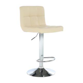Barová židle KANDY NEW eko kůže / chrom Tempo Kondela Béžová