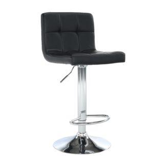 Barová židle KANDY NEW eko kůže / chrom Tempo Kondela Černá