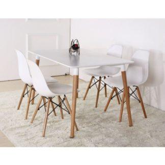 Jídelní stůl DIDIER 3 NEW bílá / buk Tempo Kondela