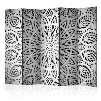 Paraván White Mandala Dekorhome 225x172 cm (5-dílný)