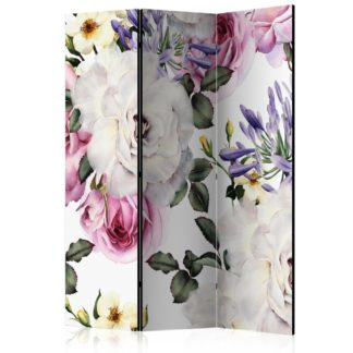 Paraván Floral Glade Dekorhome 135x172 cm (3-dílný)