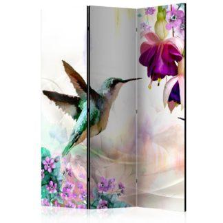 Paraván Hummingbirds and Flowers Dekorhome 135x172 cm (3-dílný)