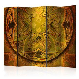 Paraván Mandala: Golden Power Dekorhome 225x172 cm (5-dílný)