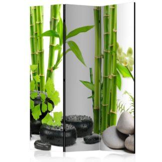 Paraván Bamboos and Stones Dekorhome 135x172 cm (3-dílný)