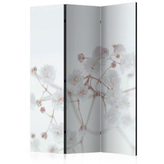 Paraván White Flowers Dekorhome 135x172 cm (3-dílný)