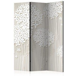 Paraván Paper Dandelions Dekorhome 135x172 cm (3-dílný)