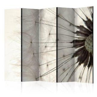 Paraván White Dandelion Dekorhome 225x172 cm (5-dílný)