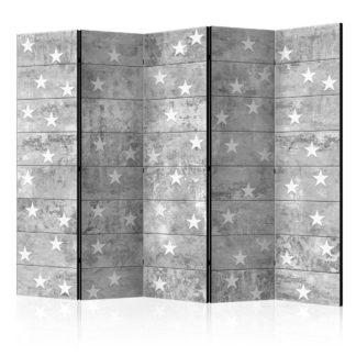Paraván Stars on Concrete Dekorhome 225x172 cm (5-dílný)